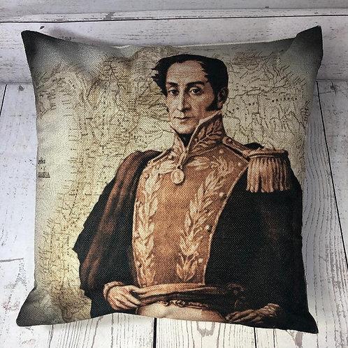 Simon Bolivar Decorative Pillow Cover