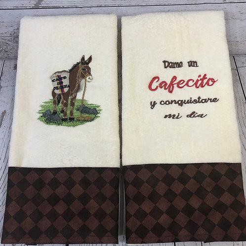 Dame un Cafecito Decorative Kitchen Towels