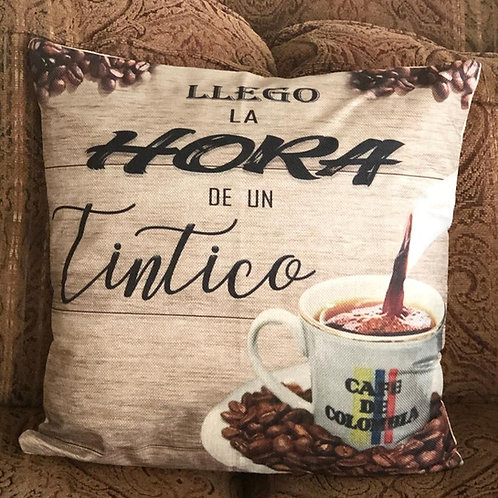 Llego la hora de un tintico Decorative Pillow Cover