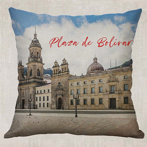 Plaza de Bolivar Decorative Pillow Cover