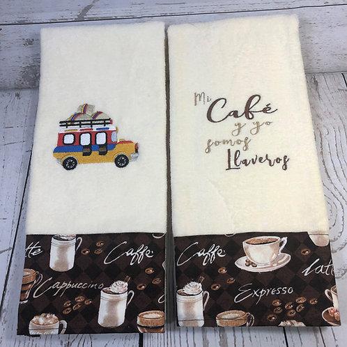 Mi Café y yo somos Llaveros Decorative Kitchen Towels