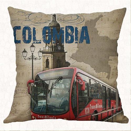 Transmilenio Colombia Decorative Pillow Cover