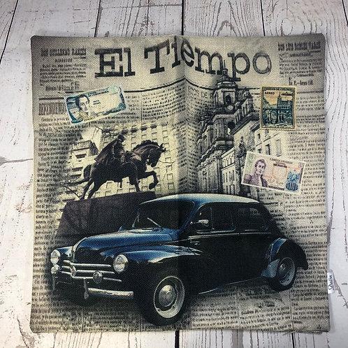 El Periodico El Tiempo Decorative Pillow Cover