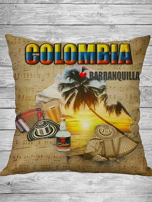 Barranquilla Colombia Decorative Pillow Cover