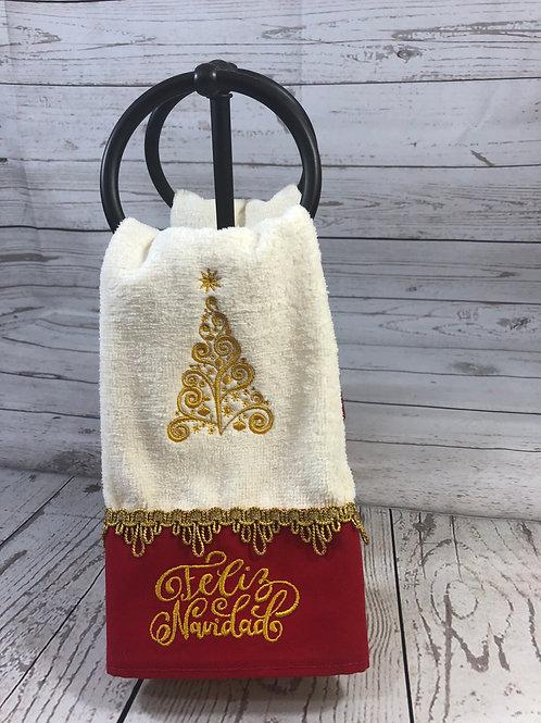 Árbol de Navidad with Monogram Hand Towel