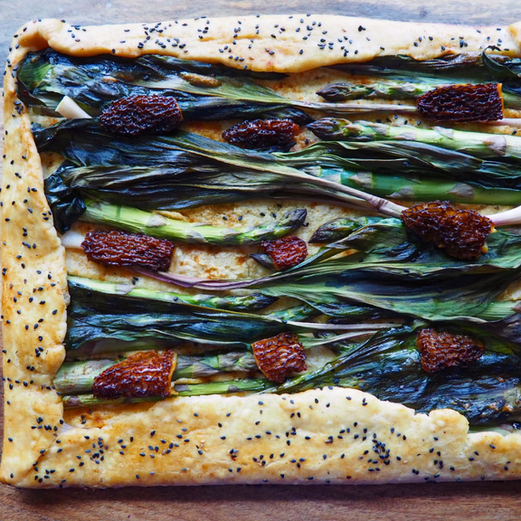 Wisconsin Foraged Pie Feat. Ramps & Morels
