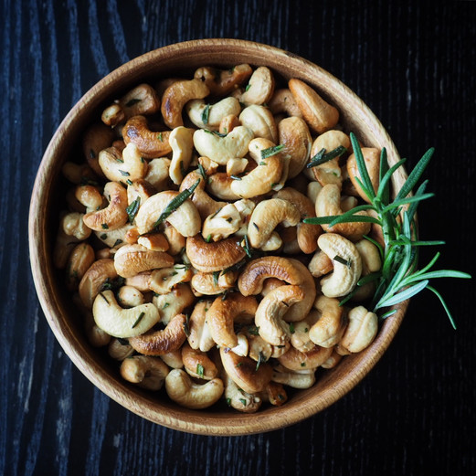 Rosemary Cashews Built for a Rager
