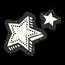 estrelas de recorte