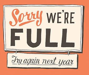 Sorry, we're full