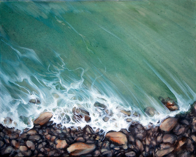Rocks and Foam by Georgia Freebody