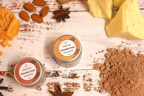 Raw Chocolate Lip Balm and Lip Scrub