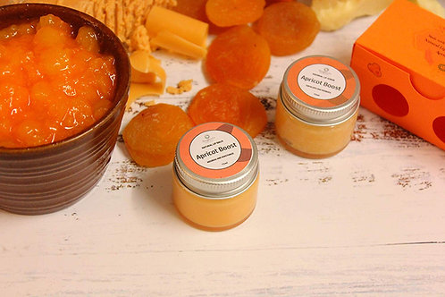 Organic Apricot Lip Balm and Lip Scrub