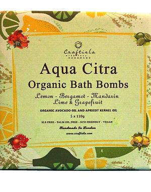 Aqua Citra Handmade Organic Bath Bombs, Organic Avocado Oil and Organic Apricot