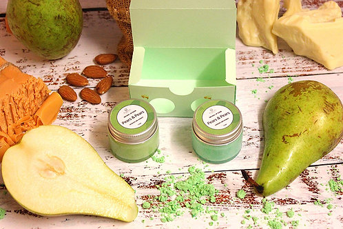 Organic Pear Lip Balm and Lip Scrub