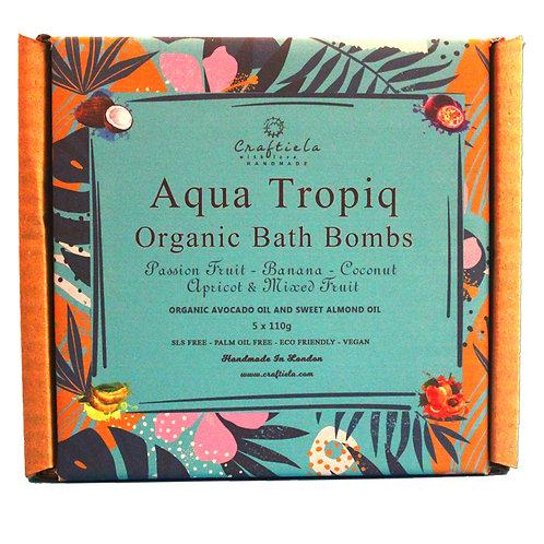 Aqua Tropiq Handmade Organic Bath Bombs, Organic Avocado Oil