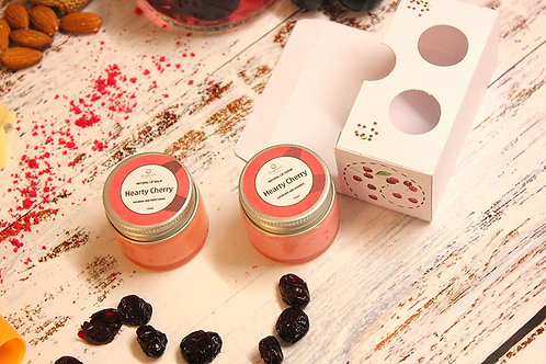 Organic Cherry Lip Balm and Lip Scrub