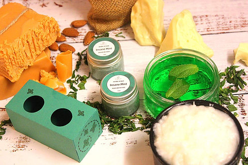Organic Mint Lip Balm and Lip Scrub