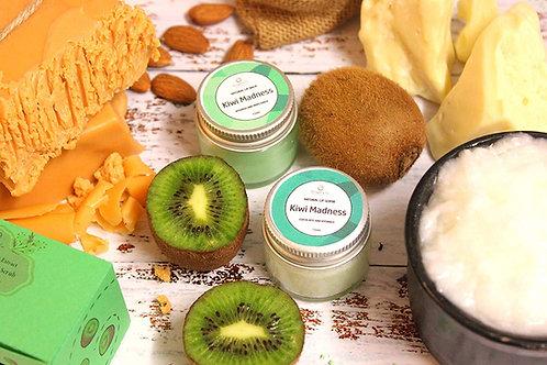 Organic Kiwi Lip Balm and Lip Scrub