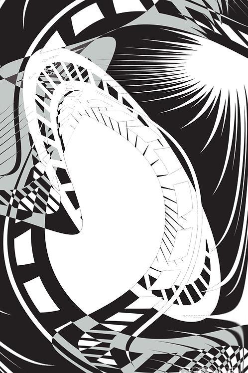 Abstro Metal Print
