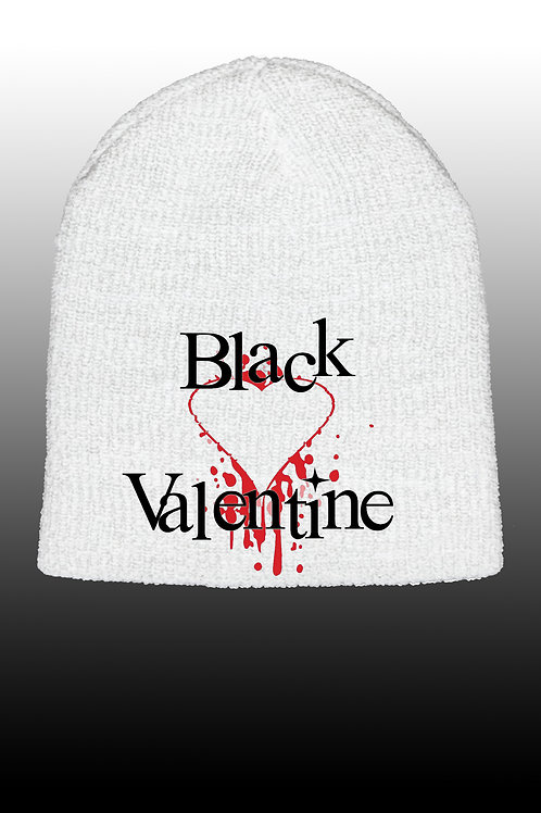 Bleeding Heart White Beanie