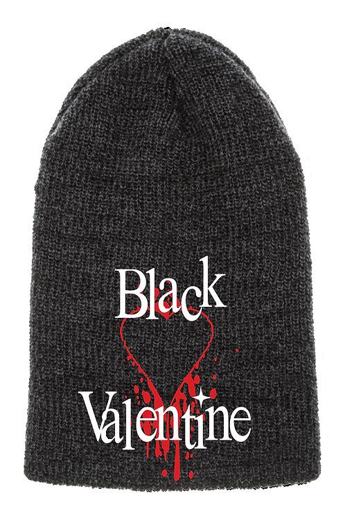 Bleeding Heart Black Slouch Beanie