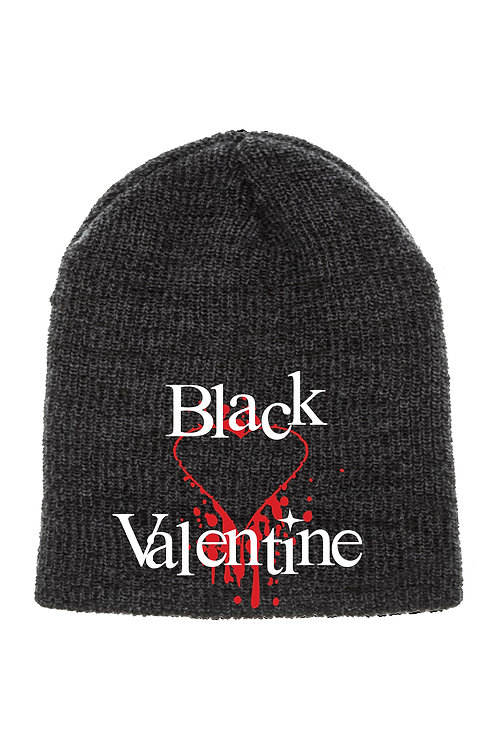 Bleeding Heart Regular Black Beanie