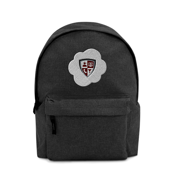 Embroidered Backpack - Cloud