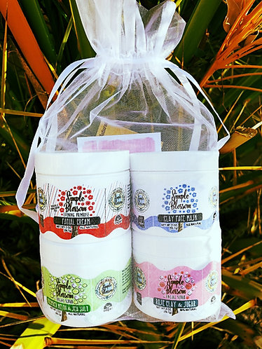 Facial Gift set/  Set of four 2 oz jars