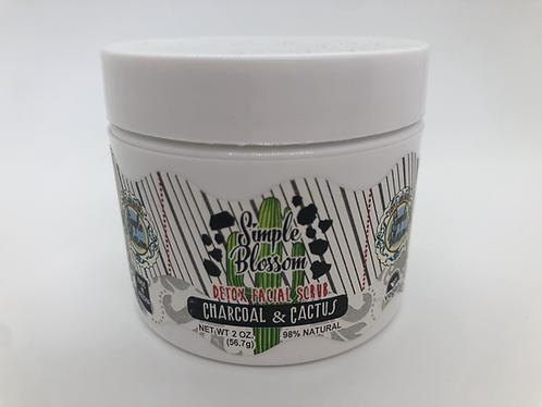 Charcoal & Cactus Flower Acne Scrub