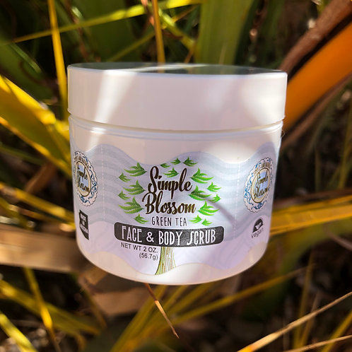 Green tea extract face and body scrub