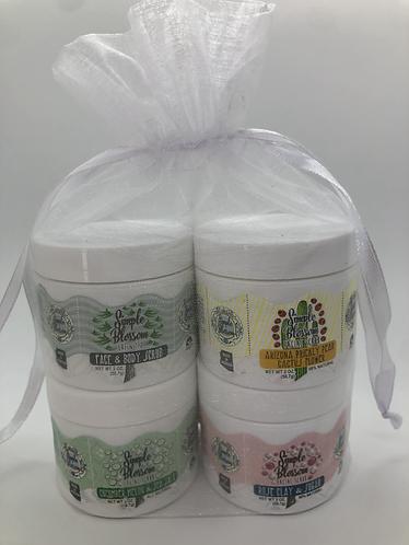 Facial Scrub Giftset (set of four 2 oz. scrubs in reusable bag)