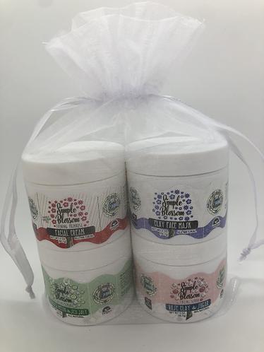 Facial Gift set/  Set of four 2 oz jars