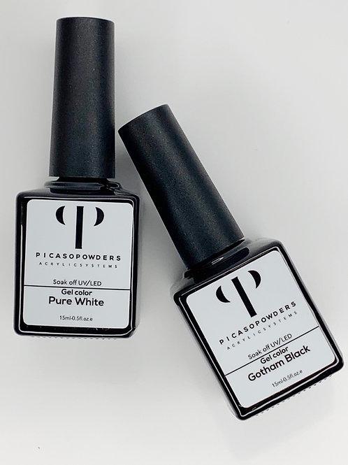 Black/White Gel Polish (Laquers)