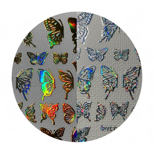 Hologram Butterfly Stickers
