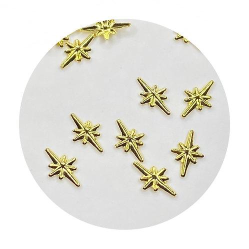 Twinkle Gold Stars 3mm
