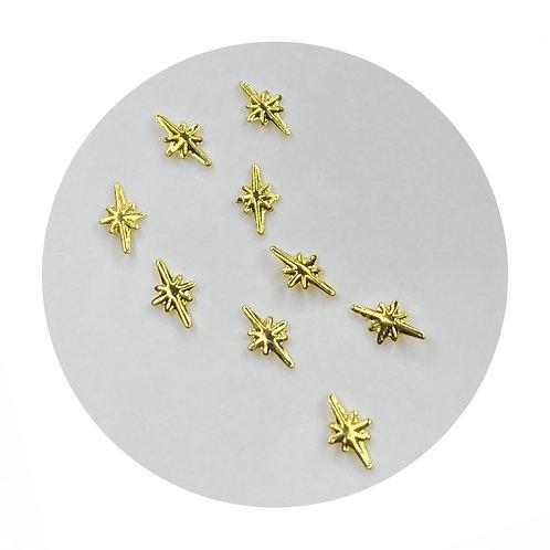 Twinkle Gold Stars 2mm