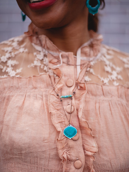 Turquoise Ogee Necklace