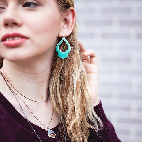Turquoise Lantern Earrings