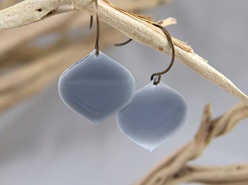 Gray Lantern Enamel Earrings