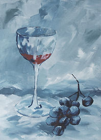 Red wine with grapes Sunday 26th may 201