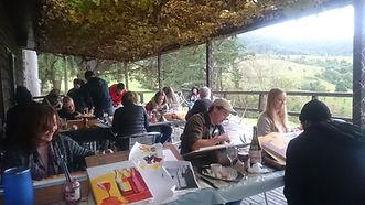 Busy painting at Jasper Valley Wines.JPG