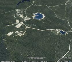 Tailings dam, Drake gold mine, NSW