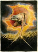 William Blake God reaching down