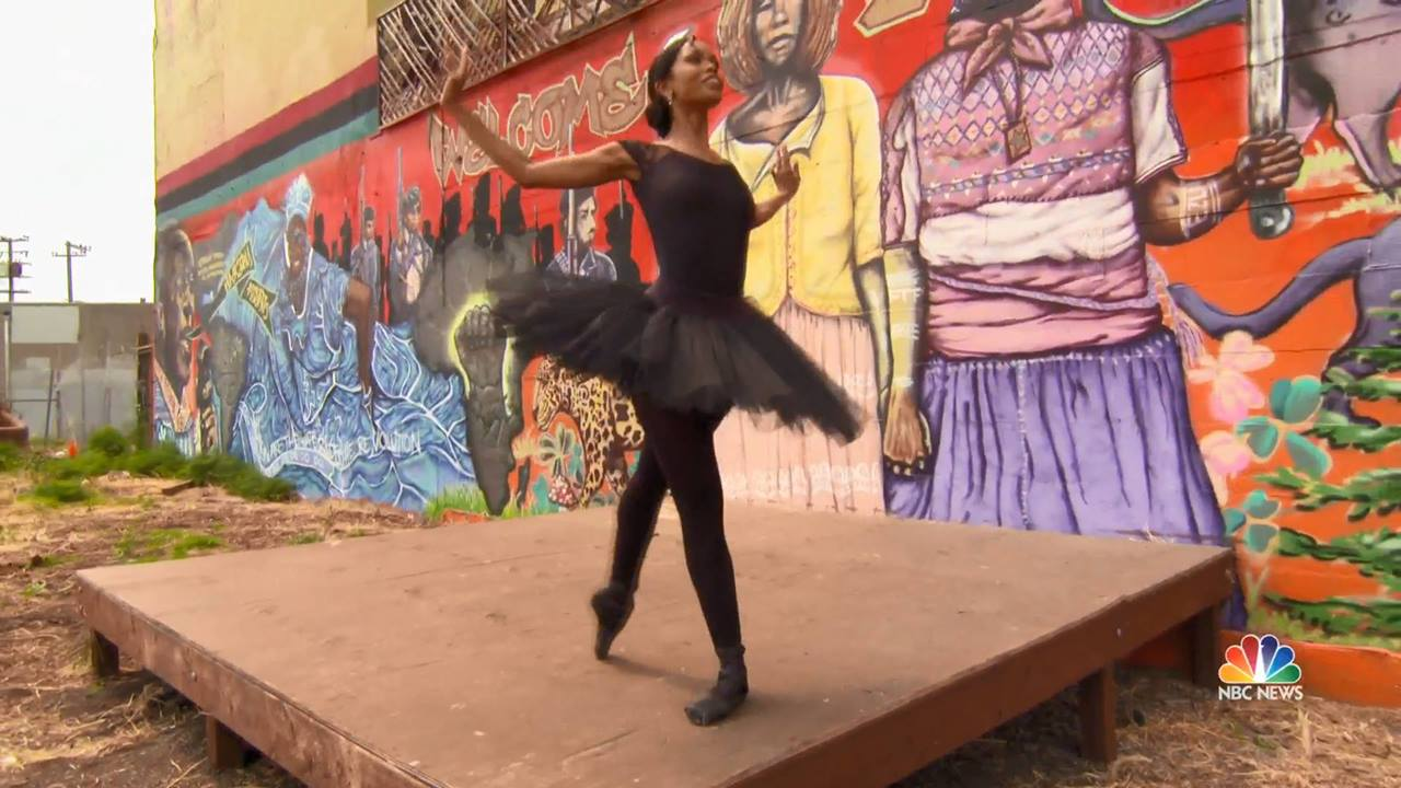 African-American ballerina breaks barriers with Swan Dreams Project.