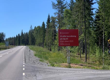 KURVRÄTNING AV VÄG 63