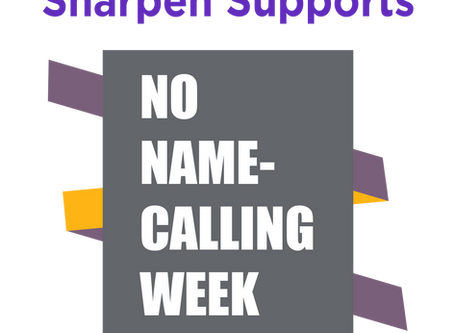 Sharpen Supports No Name-Calling Week