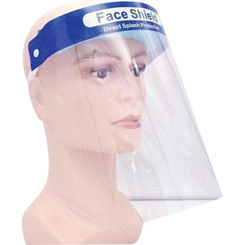 Visière transparente avec harnais de tête