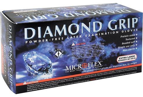 LATEX. Gant pour examen Diamond Grip. Petit - Boite de 100