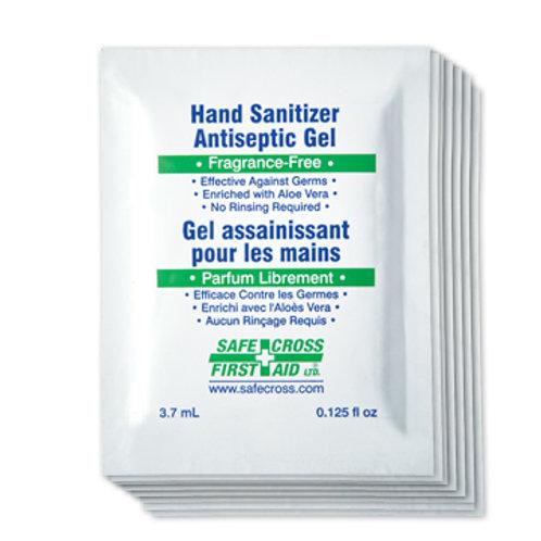 Désinfectant en gel pour les mains en pochettes pratiques