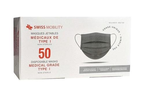 Masques MÉDICAUX ASTM Niveau-1. Boite de 50 masques